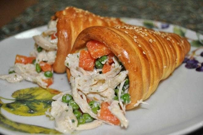 coni di pane farciti al pollo (1)
