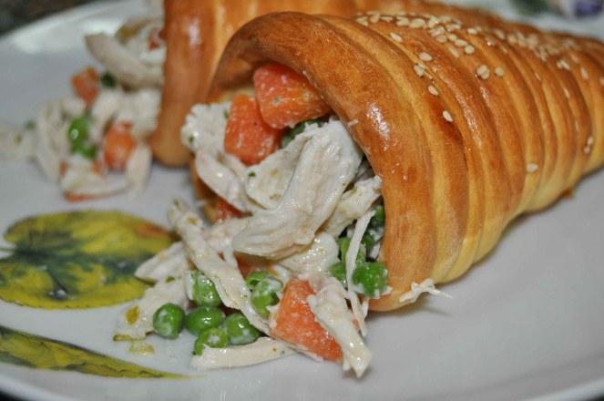 coni di pane farciti al pollo (3)