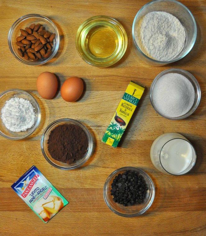 Muffin cioccolato e mandorle (1)