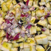 Penne rigate patè di verza e dadolata di melanzane e pera (2)