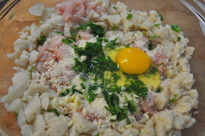 Polpette di pollo e cavolfiore con zucchine (4)