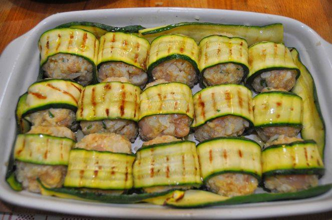 Polpette di pollo e cavolfiore con zucchine (8)