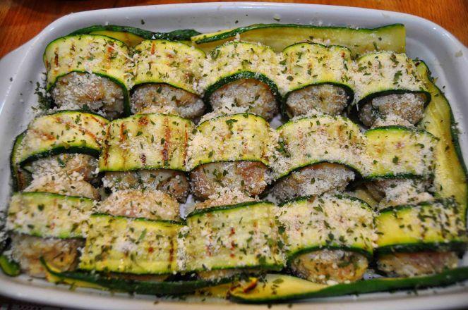 Polpette di pollo e cavolfiore con zucchine (9)