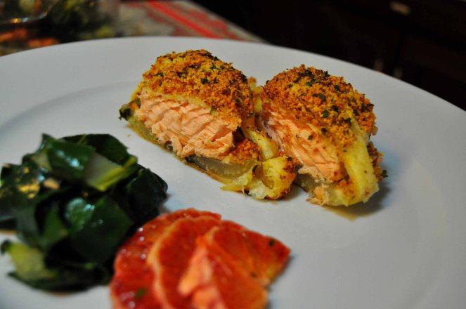 Salmone in crosta di mandorle  (23)
