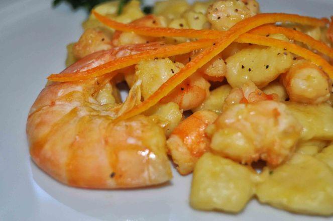 Gnocchi mazzancolle e arancia (11)