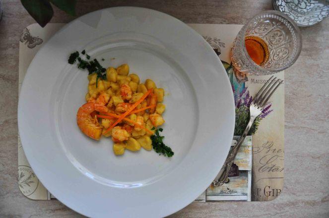 Gnocchi mazzancolle e arancia (13)