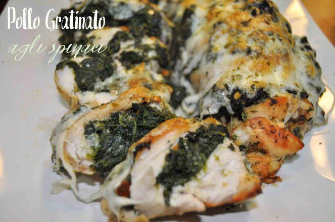 Petto di pollo gratinato con spinaci (10)