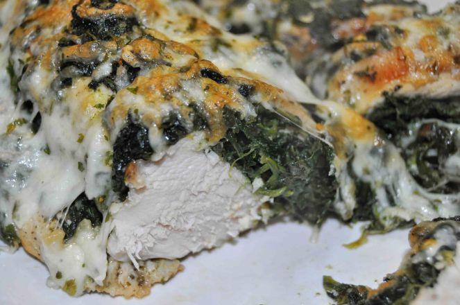 Petto di pollo gratinato con spinaci (13)