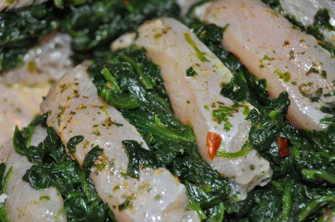 Petto di pollo gratinato con spinaci (5)