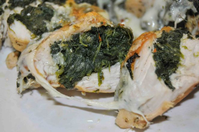 Petto di pollo gratinato con spinaci (7)
