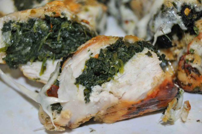 Petto di pollo gratinato con spinaci (8)