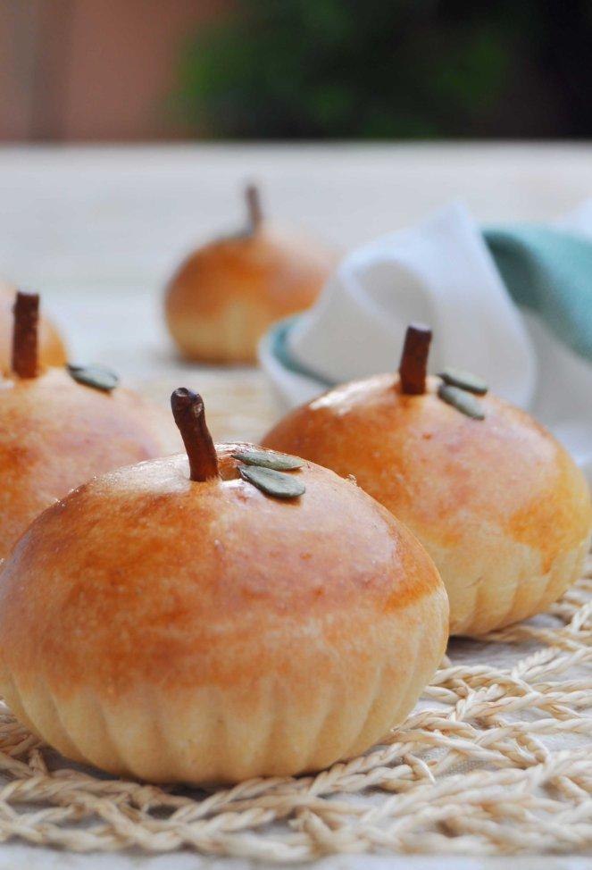 brioche di mele a forma di mela (15)