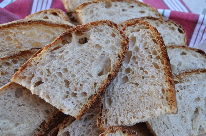 Pane scrocchiarello, pane tutto buchi metodo ventilazione impasto (1)