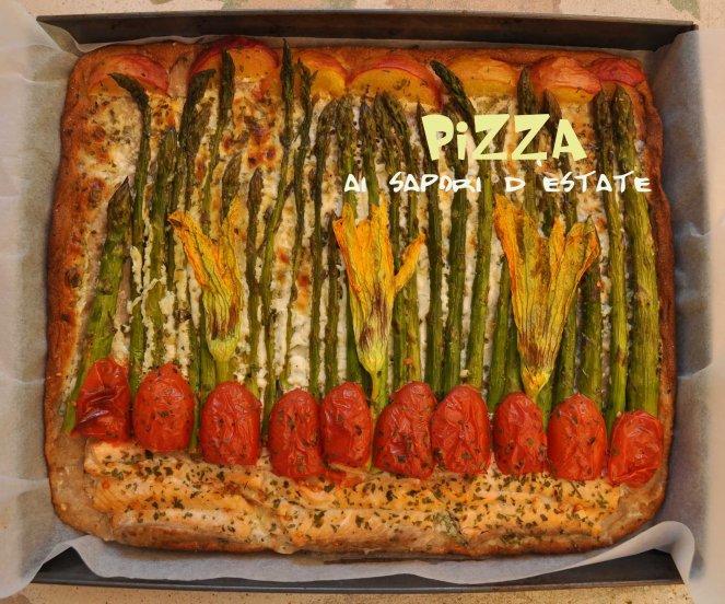 pizza rustica con asparagi fiori di zucca e salmone (13) test