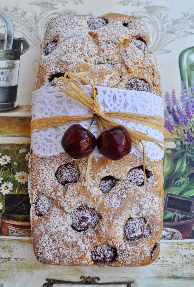 Plumcake ciliegie e fragole (2)