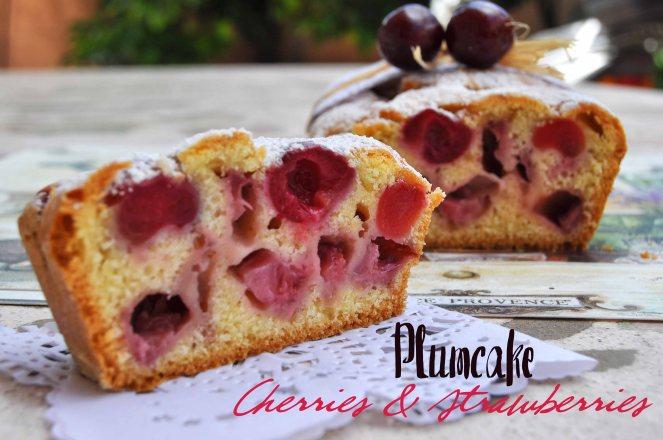 Plumcake ciliegie e fragole (9)