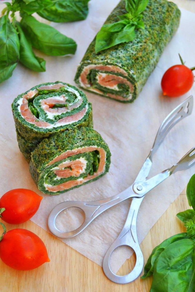 rotolo spinaci basilico e salmone affumicato (10)