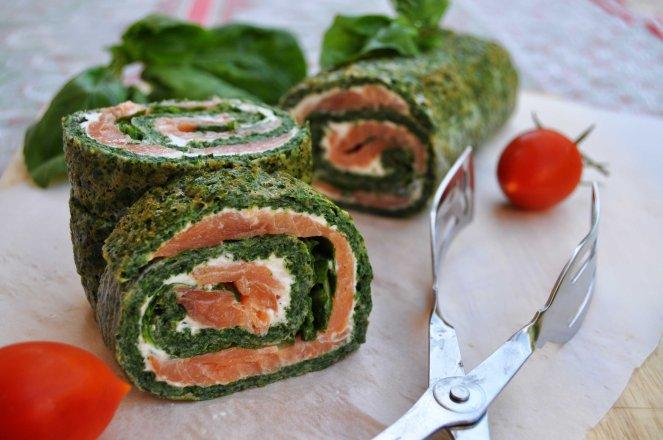 rotolo spinaci basilico e salmone affumicato (13)