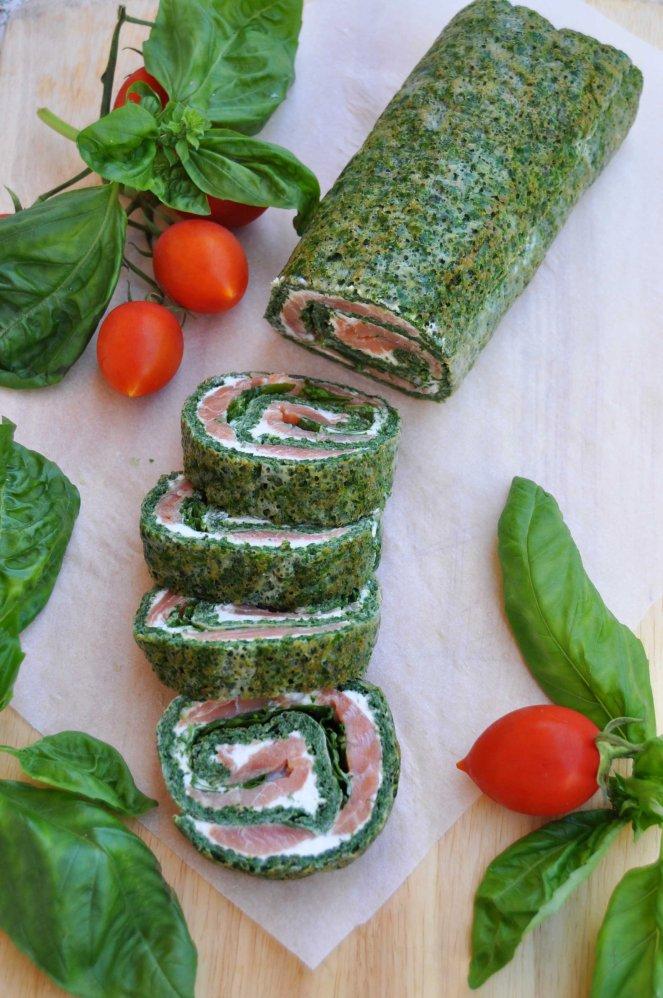 rotolo spinaci basilico e salmone affumicato (5)