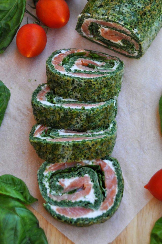 rotolo spinaci basilico e salmone affumicato (6)