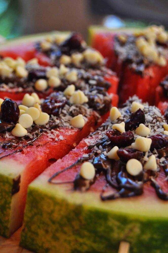 cocomero anguria dessert sullo stecco con cioccolato (11)