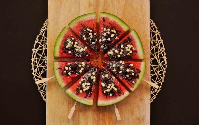 cocomero anguria dessert sullo stecco con cioccolato (8)