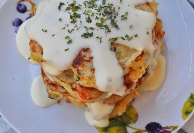 pancakes salati con patate e verdure (10)