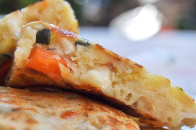 pancakes salati con patate e verdure (12)