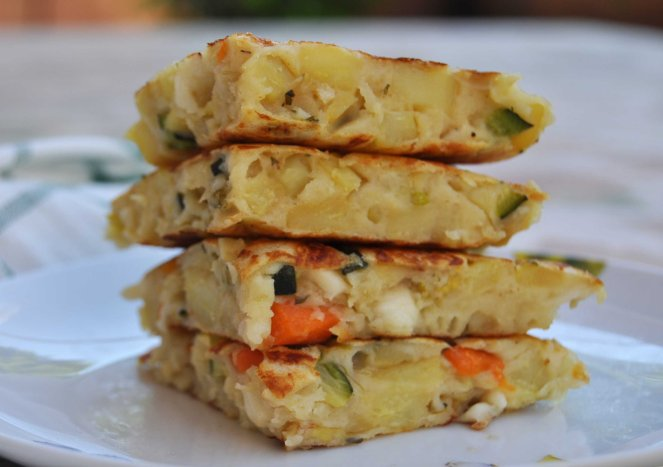 pancakes salati con patate e verdure (2)