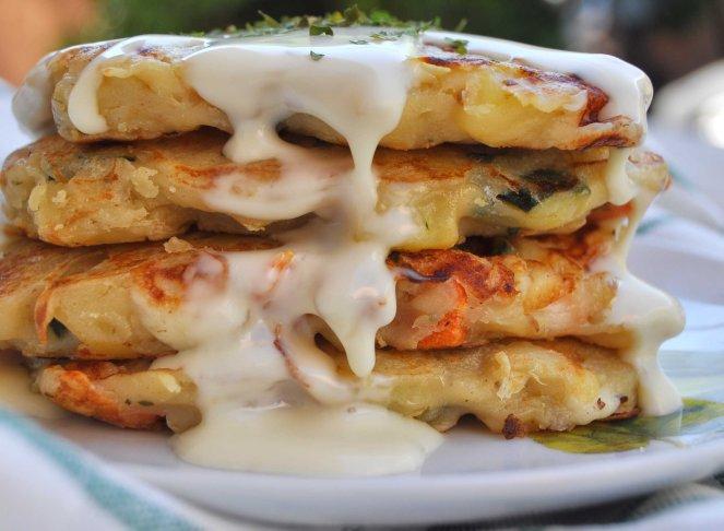 Pancakes salati con patate e verdure cook and love - Cucinare patate americane ...