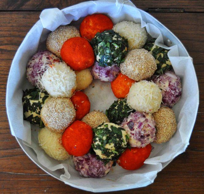 Monkey bread salato, danubio salato, danubio decorato (10)