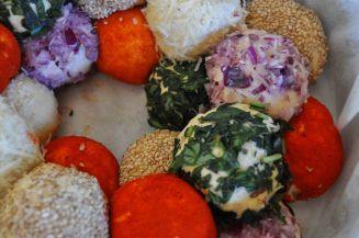 Monkey bread salato, danubio salato, danubio decorato (13)