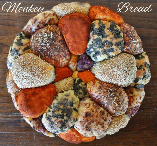 Monkey bread salato, danubio salato, danubio decorato (14)