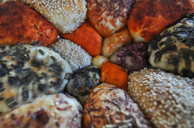 Monkey bread salato, danubio salato, danubio decorato (19)