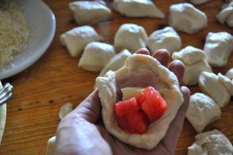 Monkey bread salato, danubio salato, danubio decorato (2)