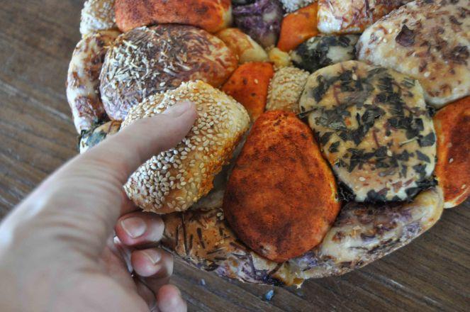 Monkey bread salato, danubio salato, danubio decorato (20)