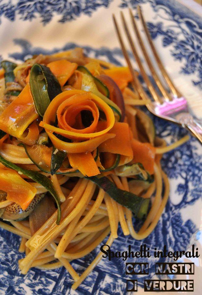 spaghetti integrali con nastri di verdure (11) test