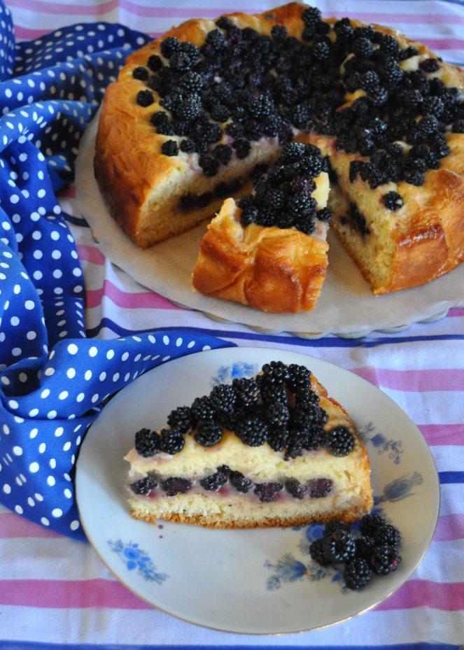 torta brioche mascarpone e more selvatiche (7)