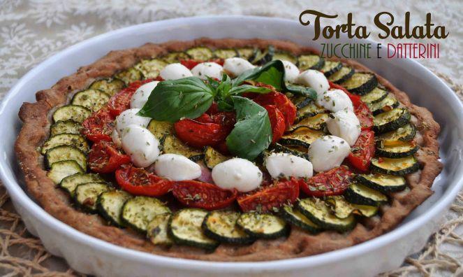 torta salata integrale zucchine e datterini (10)