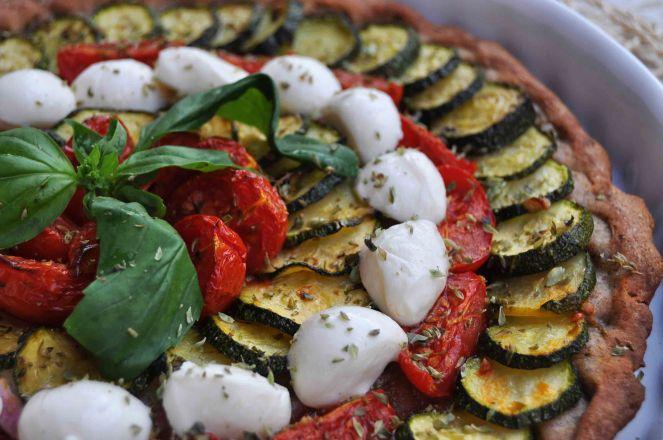 torta salata integrale zucchine e datterini (13)