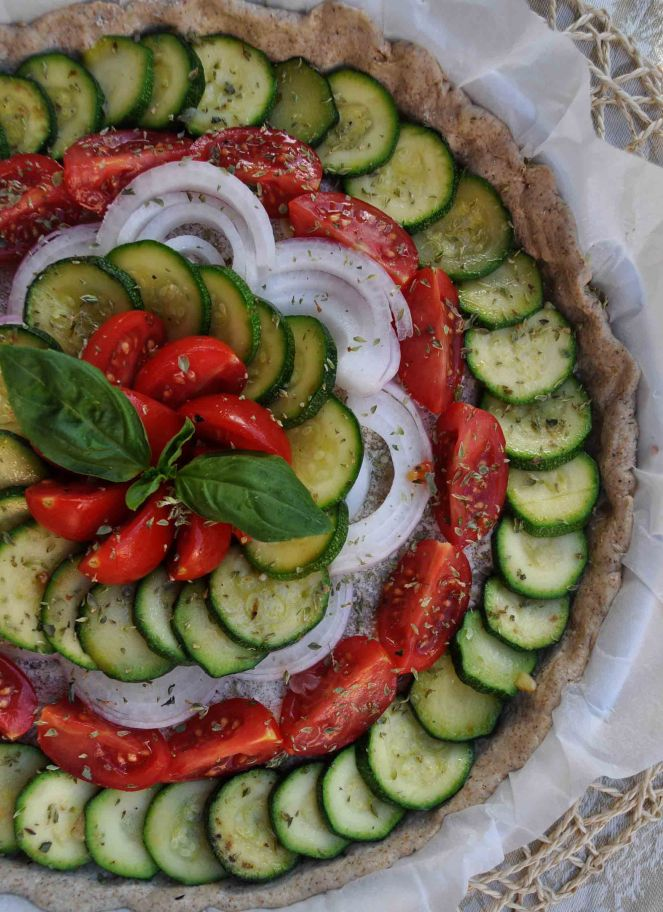 torta salata integrale zucchine e datterini (3)