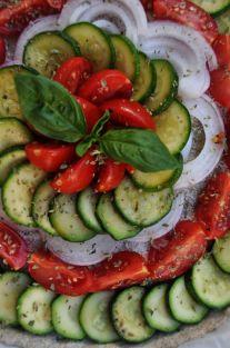 torta salata integrale zucchine e datterini (4)