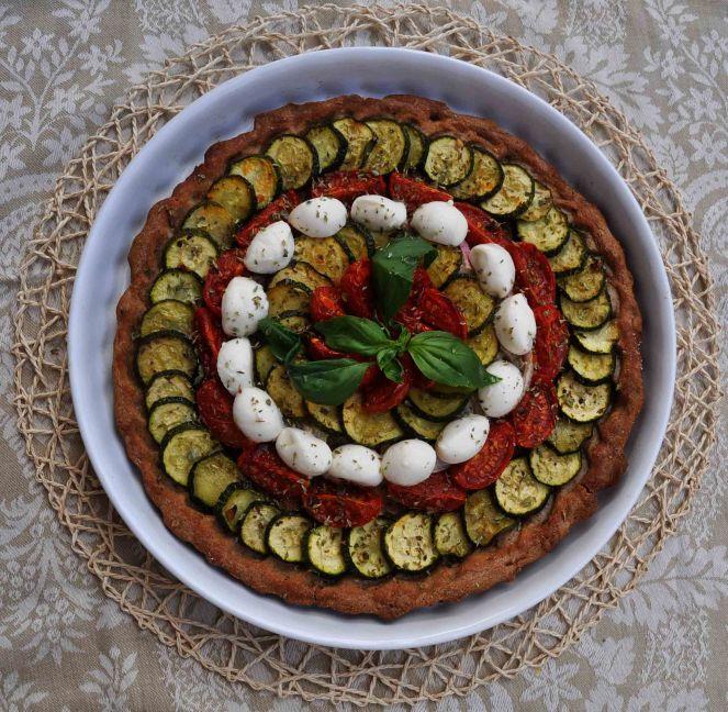torta salata integrale zucchine e datterini (8)