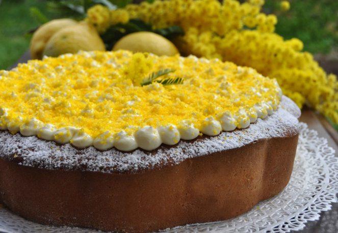 torta mimosa di albumi alla crema al limone (10)