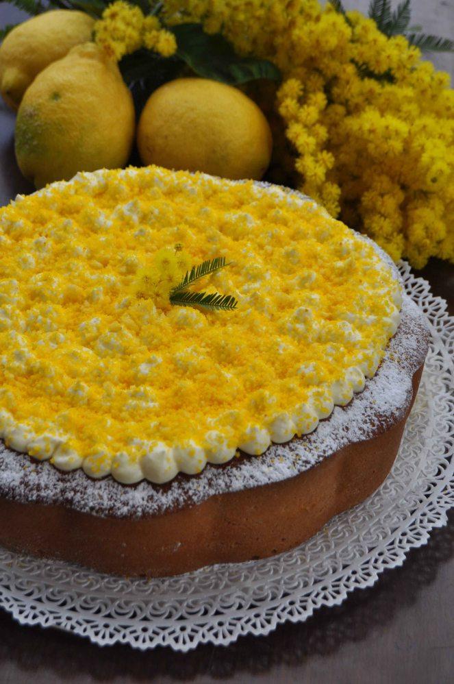torta mimosa di albumi alla crema al limone (14)