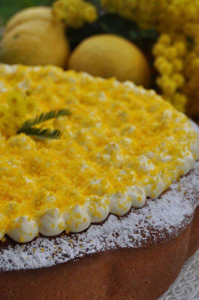 torta mimosa di albumi alla crema al limone (15)